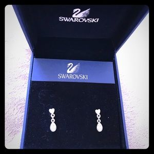 Girls Swarovski crystal earrings